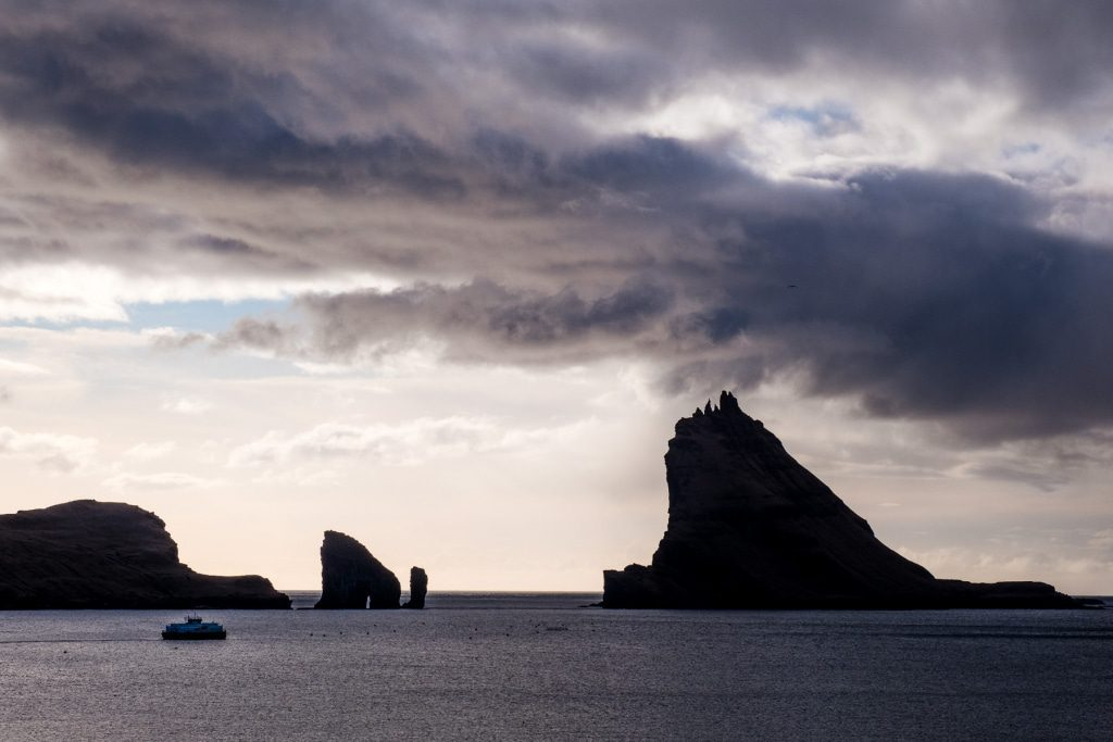 Rockformations in Bøur on the Faroe Islands