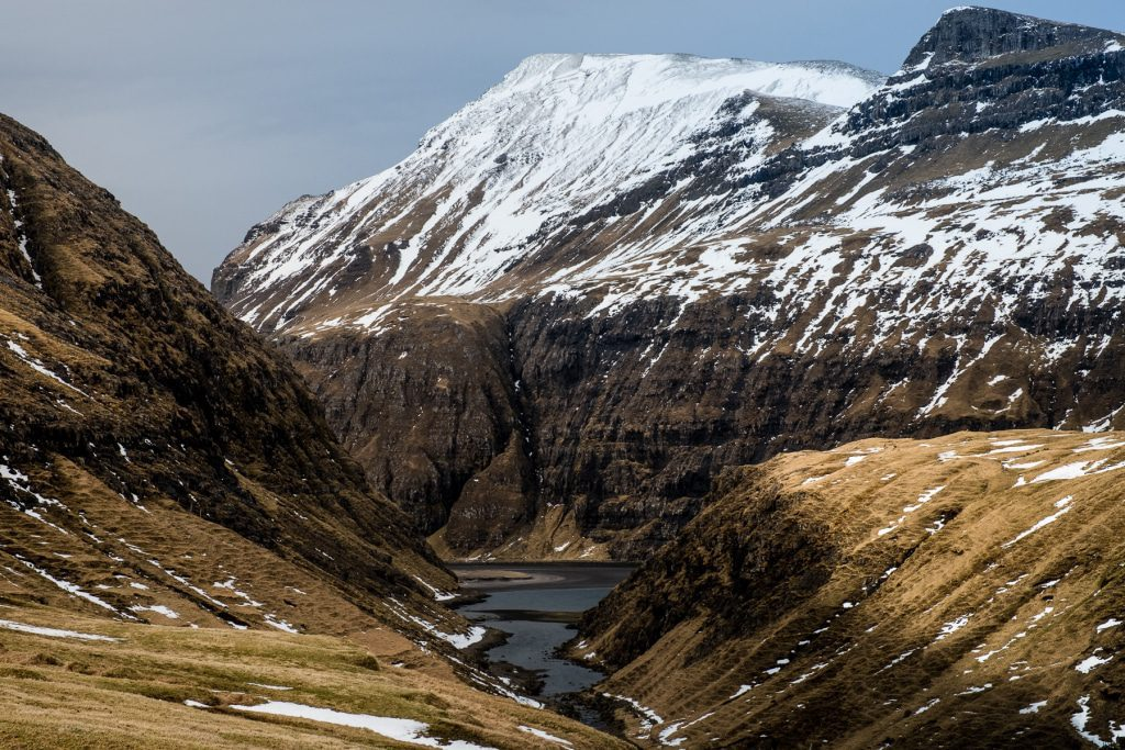 The canyon to Saksun on the Faroe Islands