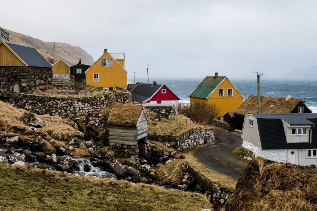 Village of Skarvanes on the Faroe Islands