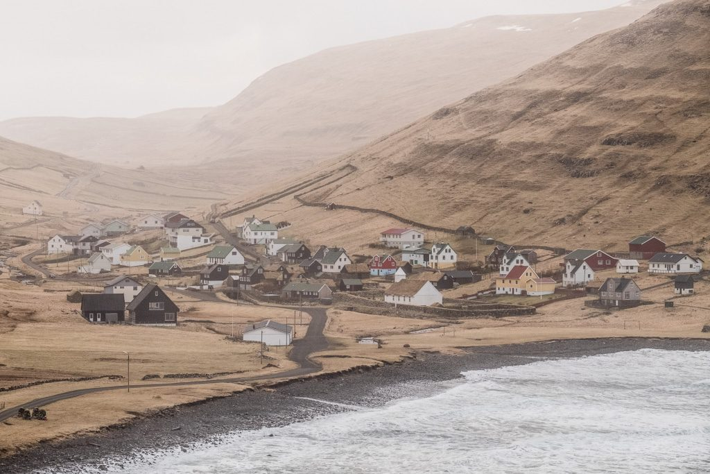 A view of Húsavík on the Faroe Islands