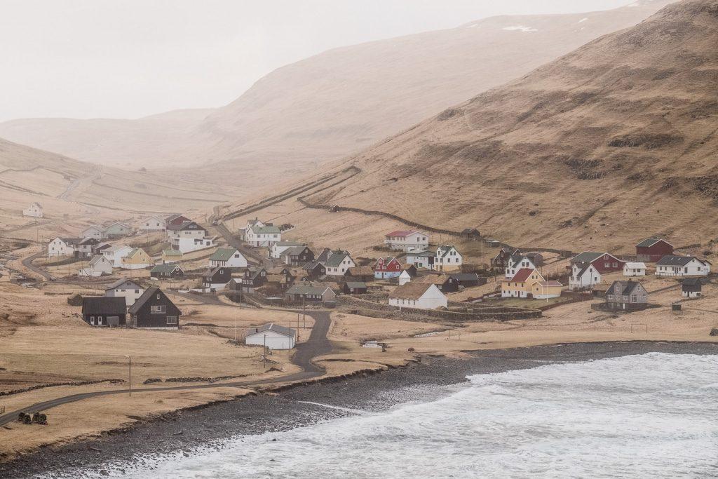 A view of Húsavík on the Faroe Islands
